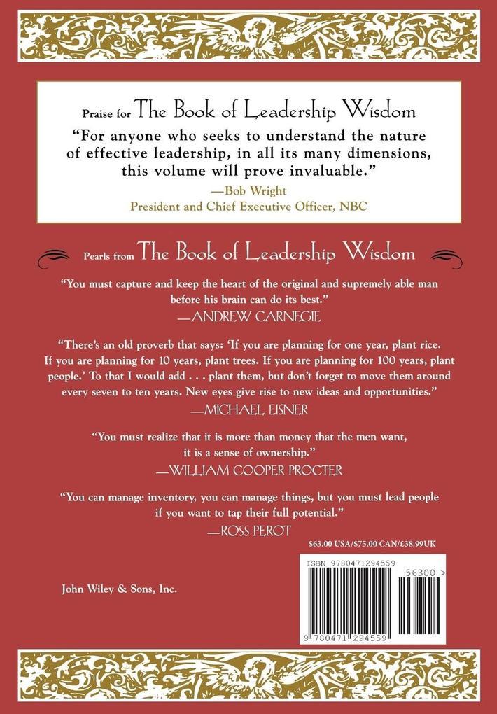 The Book of Leadership Wisdom als Buch (gebunden)