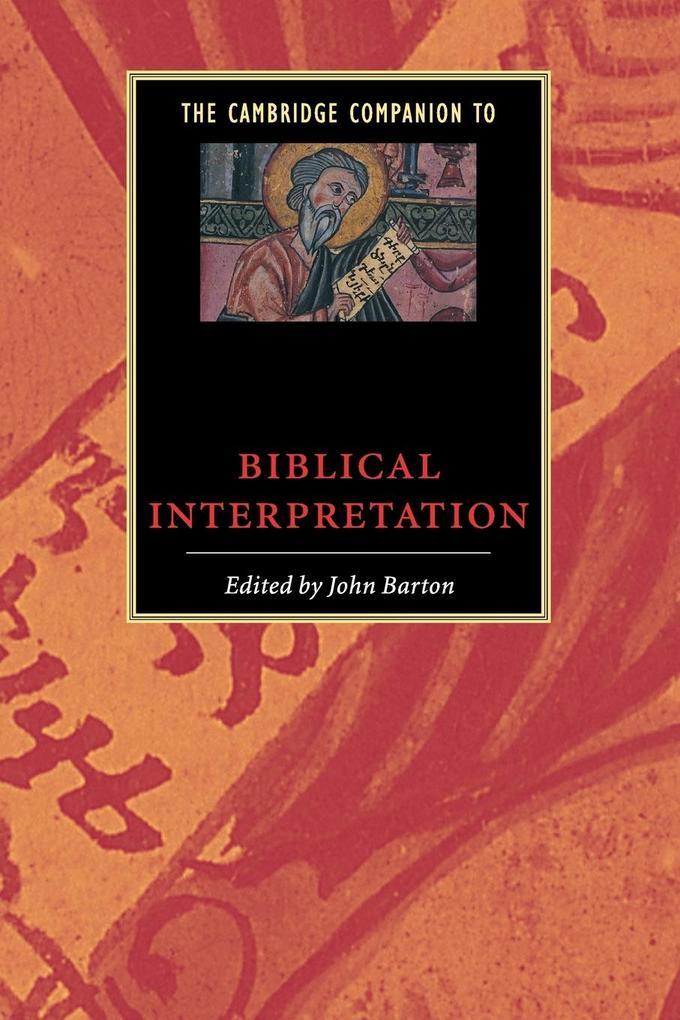 The Cambridge Companion to Biblical Interpretation als Buch (kartoniert)