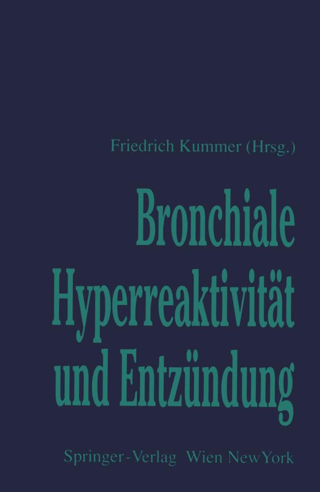 Bronchiale Hyperreaktivität und Entzündung als Buch (kartoniert)