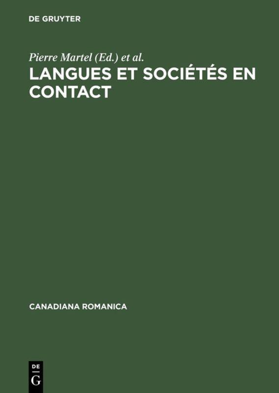 Langues et sociétés en contact als Buch (gebunden)