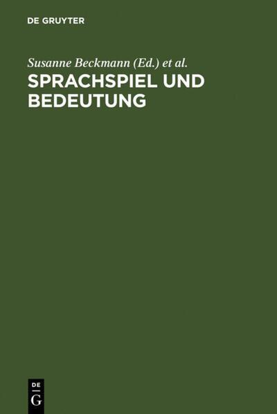 Sprachspiel und Bedeutung als Buch (gebunden)
