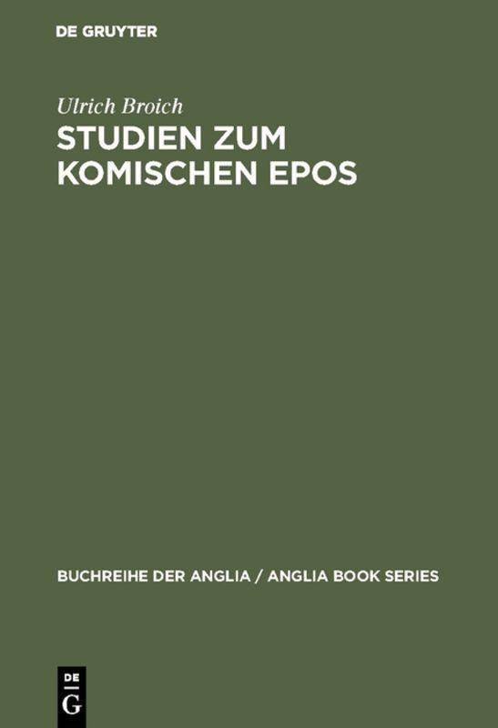 Studien zum komischen Epos als Buch (gebunden)