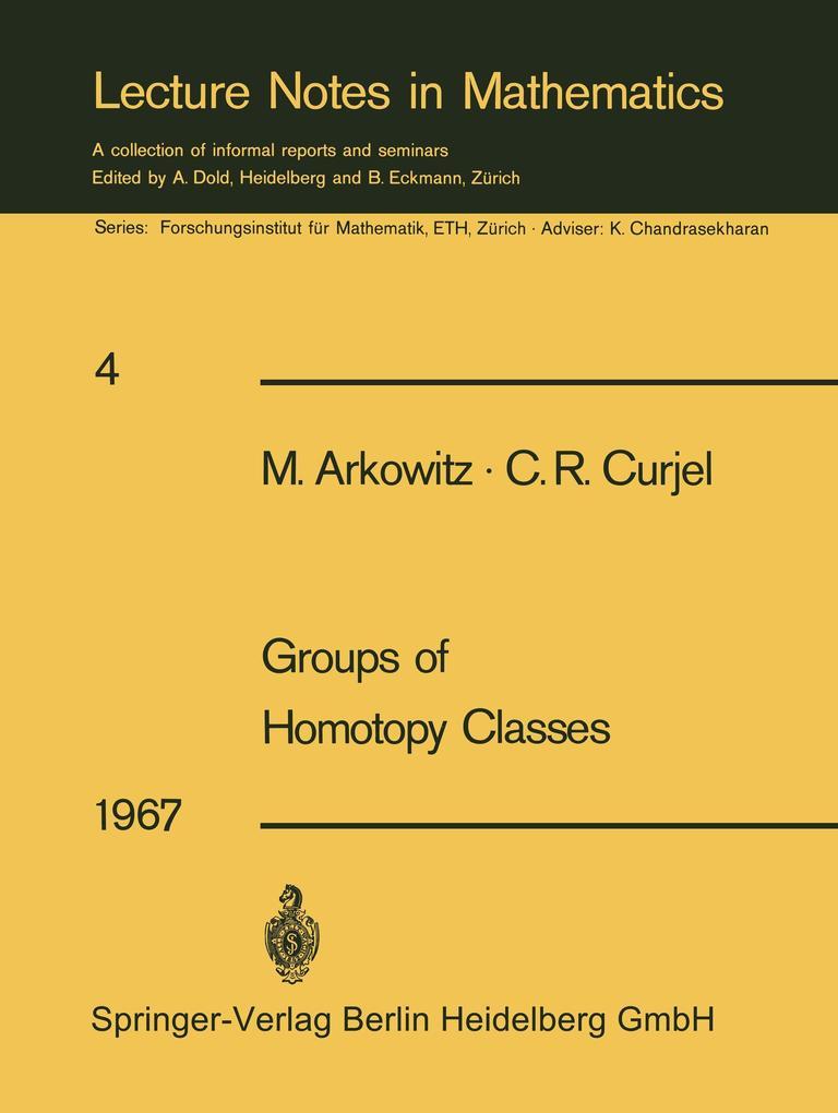Groups of Homotopy Classes als Buch (kartoniert)