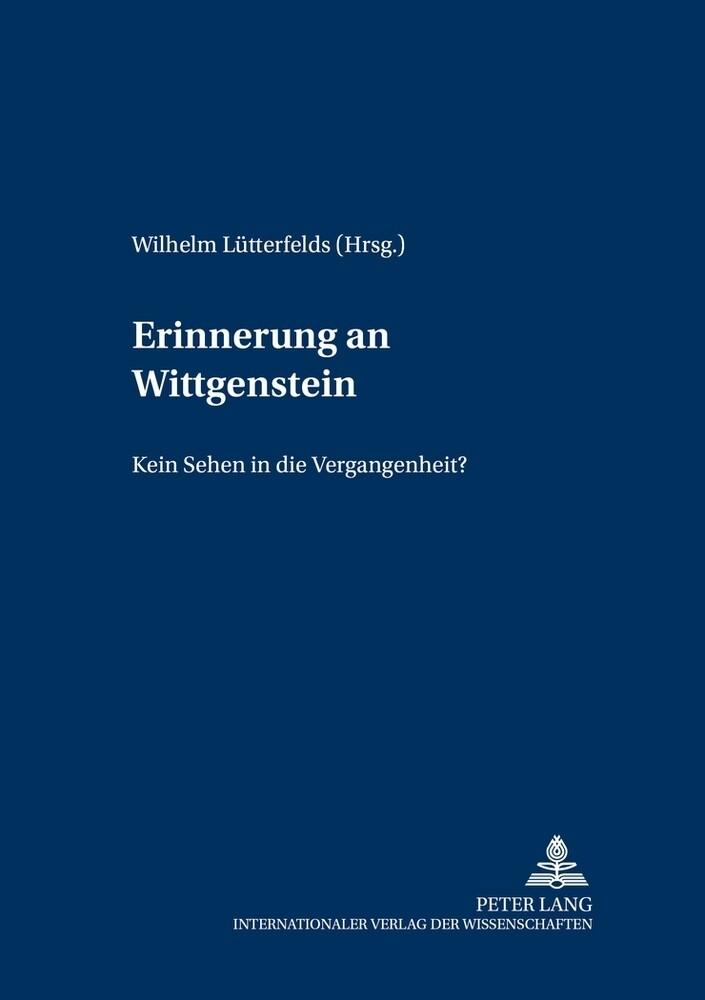 Erinnerung an Wittgenstein als Buch (kartoniert)