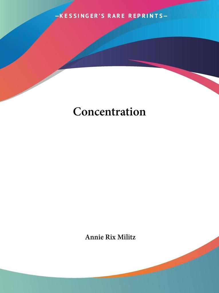 Concentration als Taschenbuch