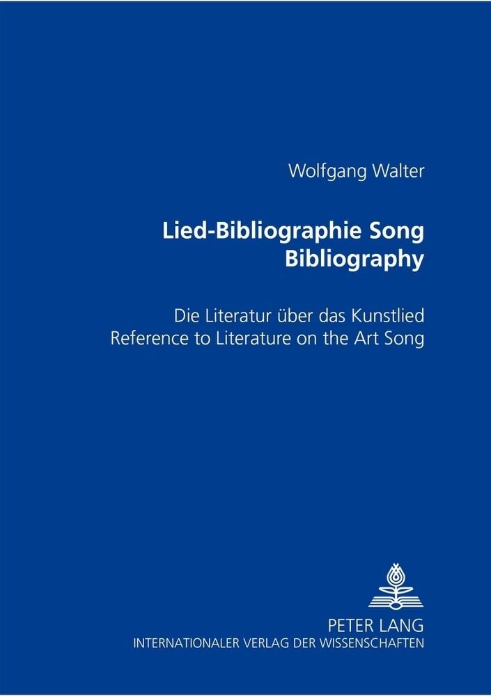 Lied-Bibliographie . Song Bibliography als Buch (kartoniert)