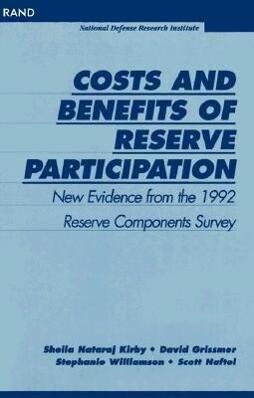 Costs and Benefits of Reserve Participation als Taschenbuch
