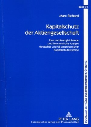 Kapitalschutz der Aktiengesellschaft als Buch (kartoniert)