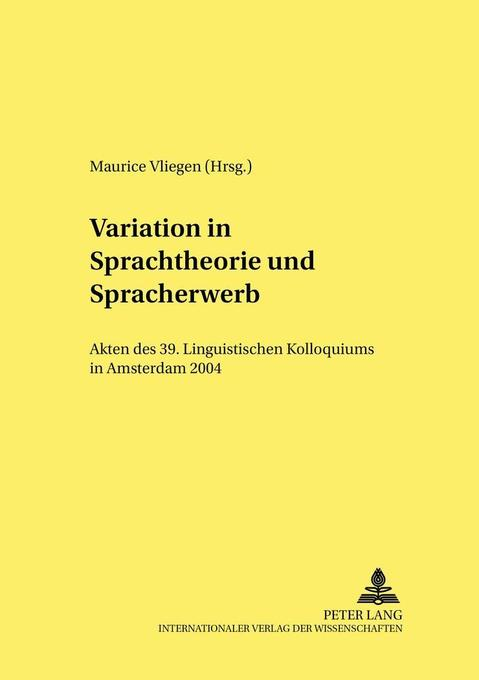 Variation in Sprachtheorie und Spracherwerb als Buch (kartoniert)