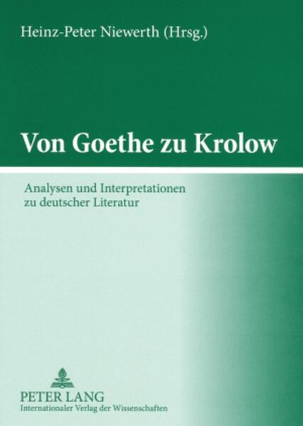 Von Goethe zu Krolow als Buch (kartoniert)
