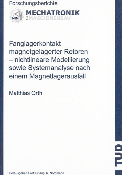 Fanglagerkontakt magnetgelagerter Rotoren als Buch (kartoniert)