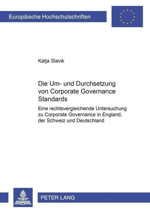 Die Um- und Durchsetzung von Corporate Governance Standards als Buch (kartoniert)