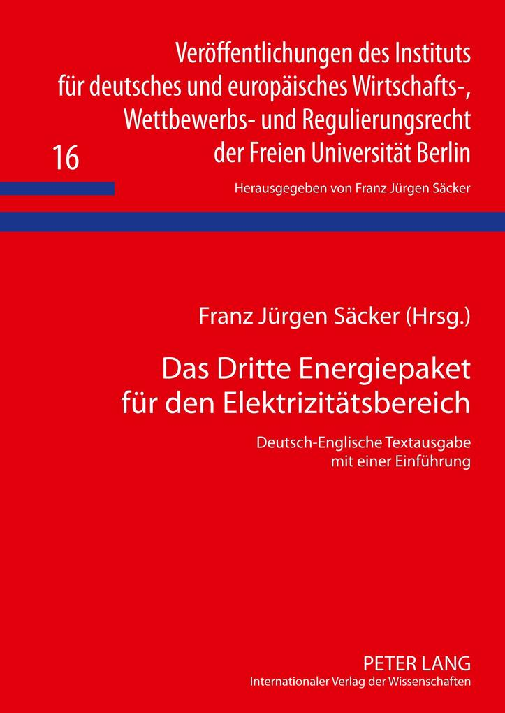 Das Dritte Energiepaket für den Elektrizitätsbereich als Buch (gebunden)