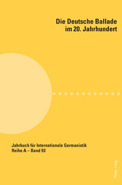Die deutsche Ballade im 20. Jahrhundert als Buch (kartoniert)