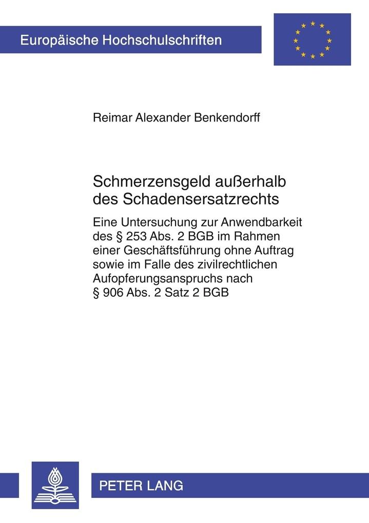 Schmerzensgeld außerhalb des Schadensersatzrechts als Buch (kartoniert)