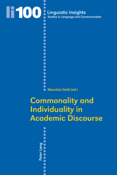 Commonality and Individuality in Academic Discourse als Buch (kartoniert)