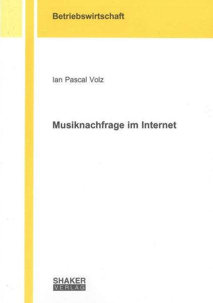 Musiknachfrage im Internet als Buch (kartoniert)