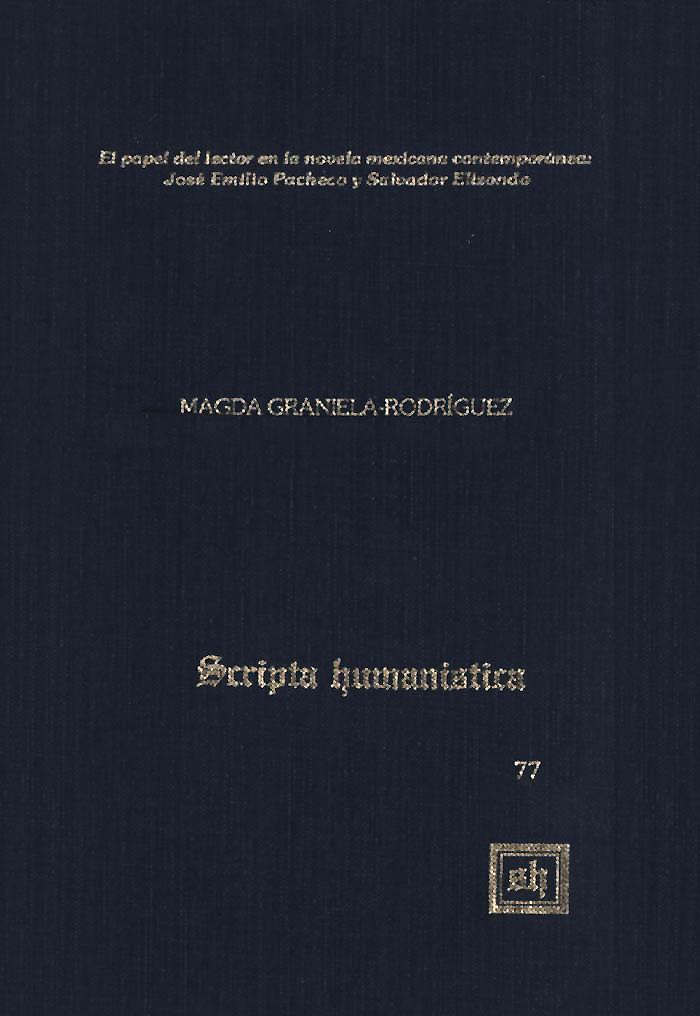 El papel del lector en la novela mexicana contemporánea: Emilio Pacheco y Salvador Elizondo als eBook pdf