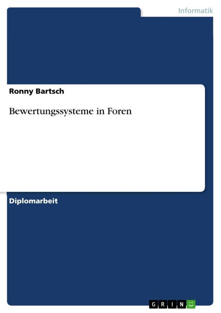 Bewertungssysteme in Foren als eBook epub
