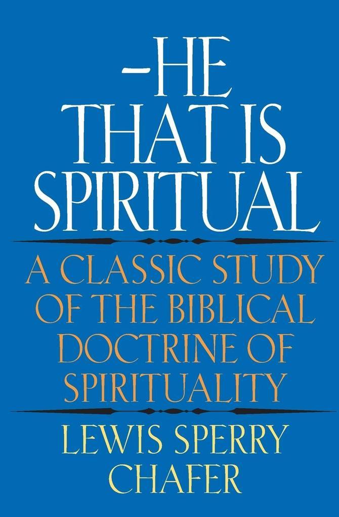 He That Is Spiritual als Taschenbuch