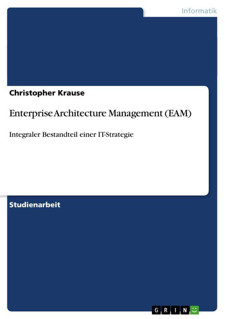 Enterprise Architecture Management (EAM) als Buch (kartoniert)