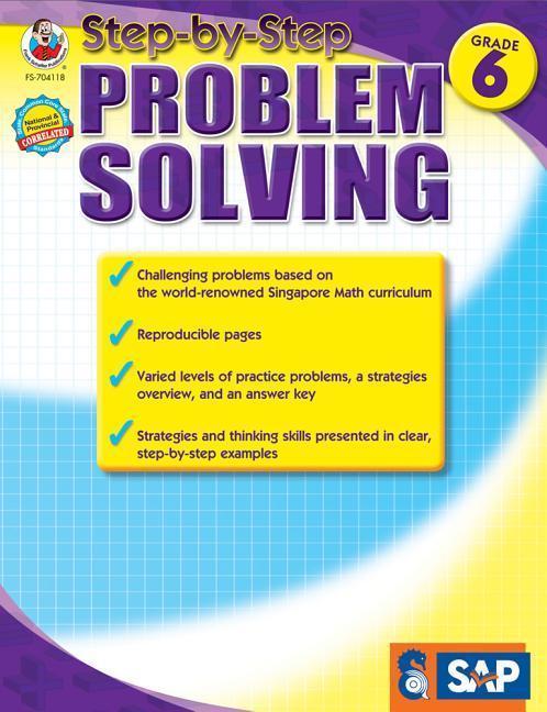 Step-By-Step Problem Solving, Grade 6 als Taschenbuch