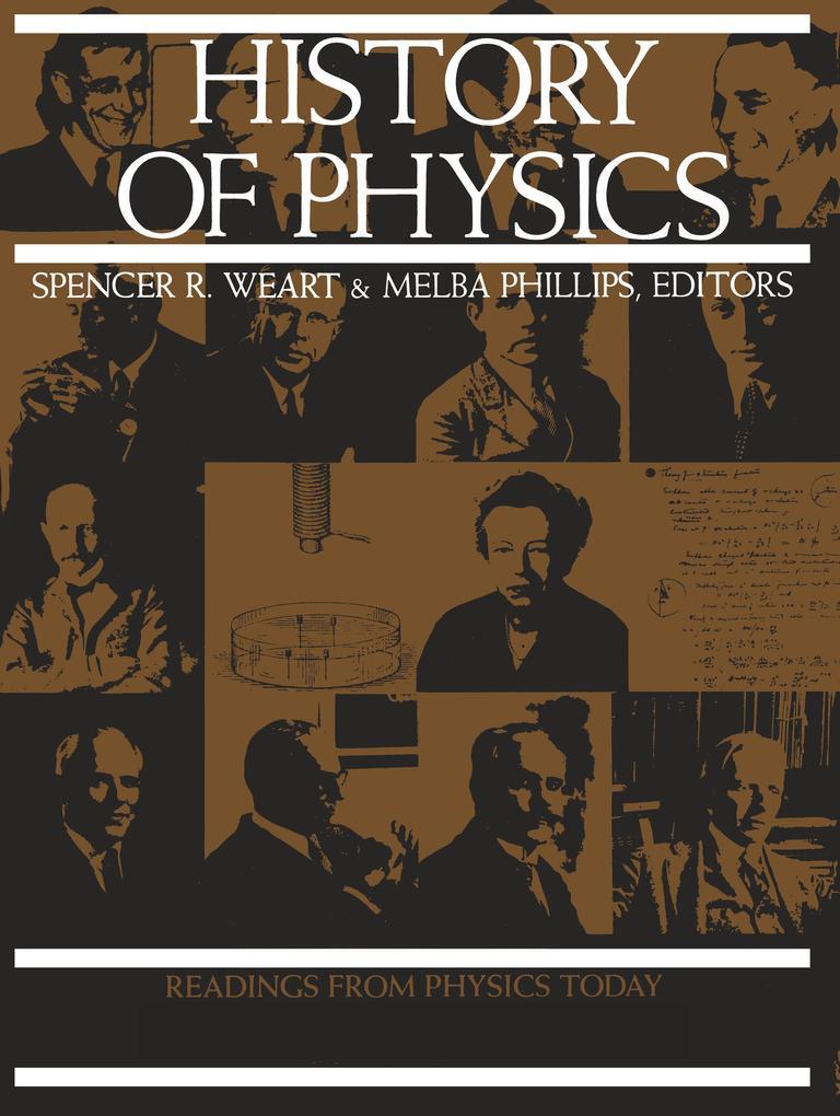 History of Physics als Buch (kartoniert)