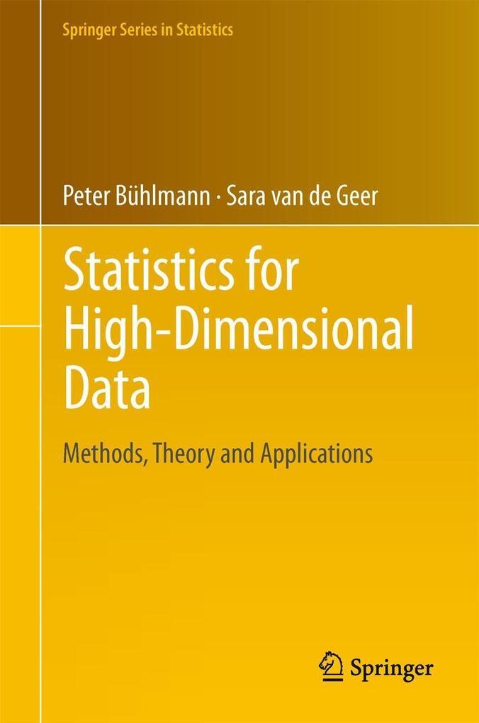 Statistics for High-Dimensional Data als eBook pdf