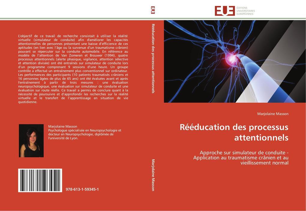 Rééducation Des Processus Attentionnels als Taschenbuch