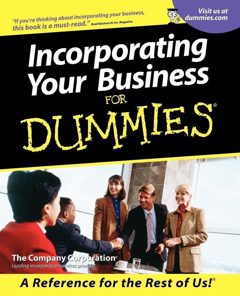 Incorporating Your Business Fo als Taschenbuch