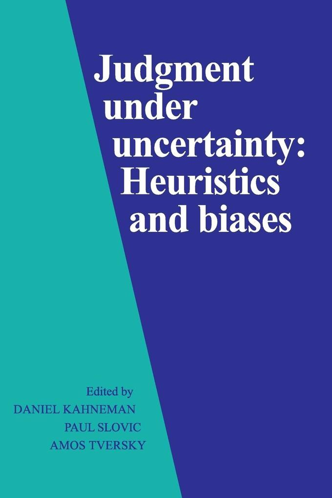 Judgment under Uncertainty als Buch (kartoniert)