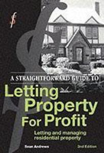A Straightforward Guide to Letting Property for Profit als Taschenbuch