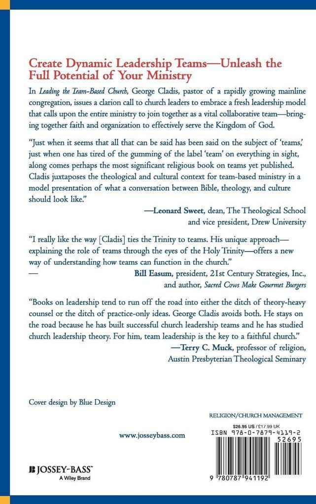 Leading Team Based Church als Buch