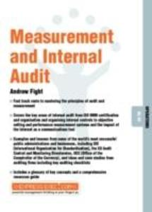 Measurement and Internal Audit als Taschenbuch