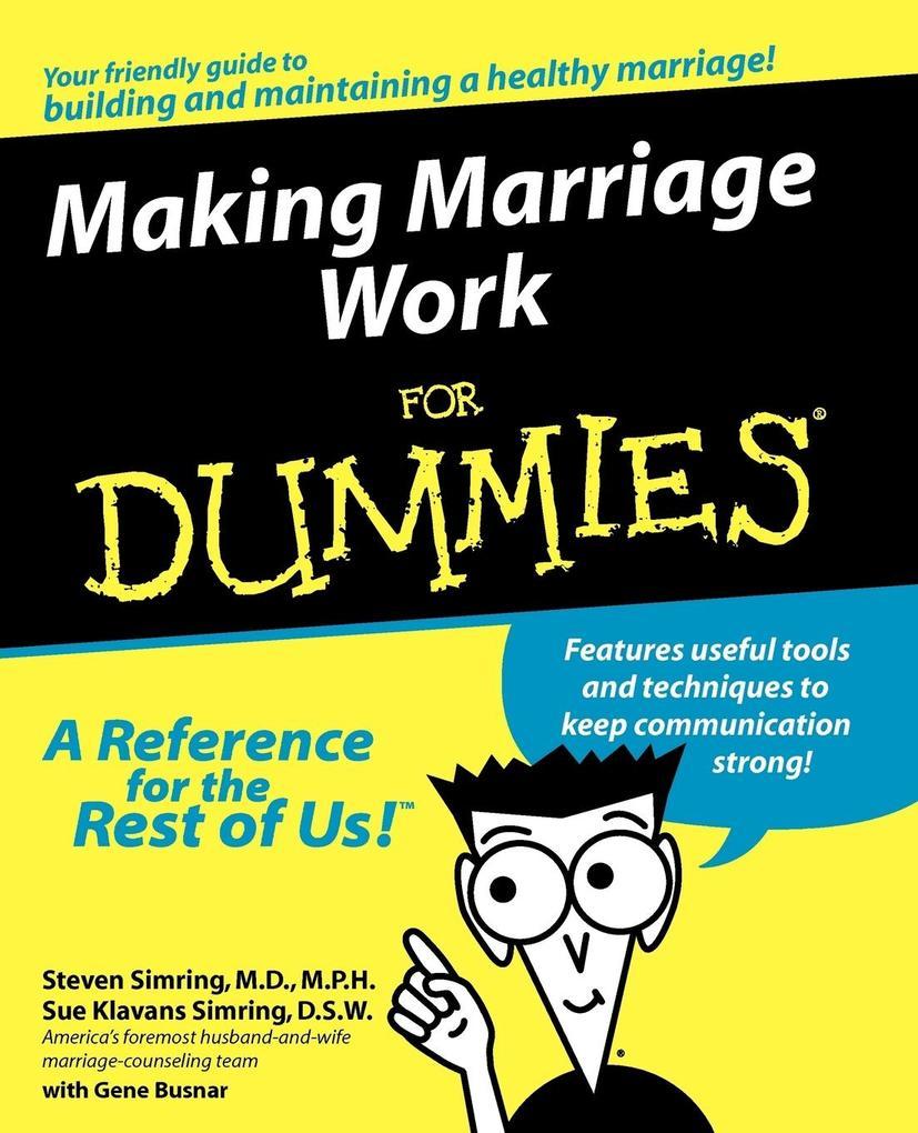 Making Marriage Work for Dummies als Taschenbuch