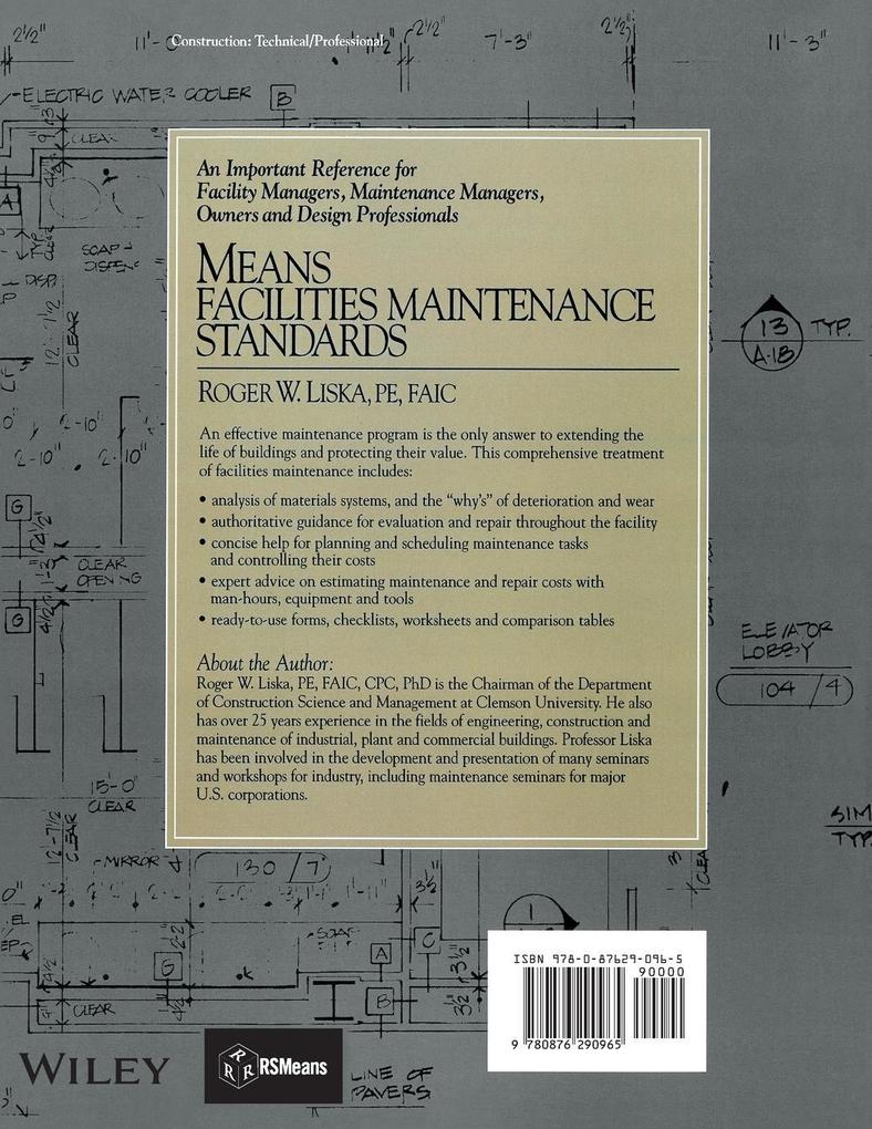 Means Facilities Maintenance Standards als Taschenbuch