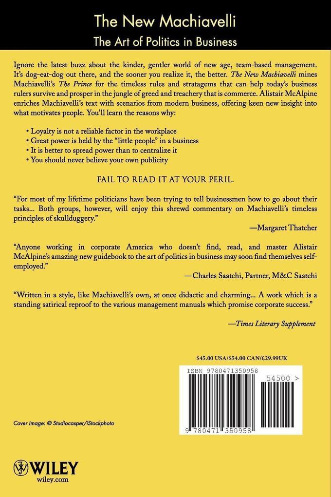 The New Machiavelli als Buch (kartoniert)