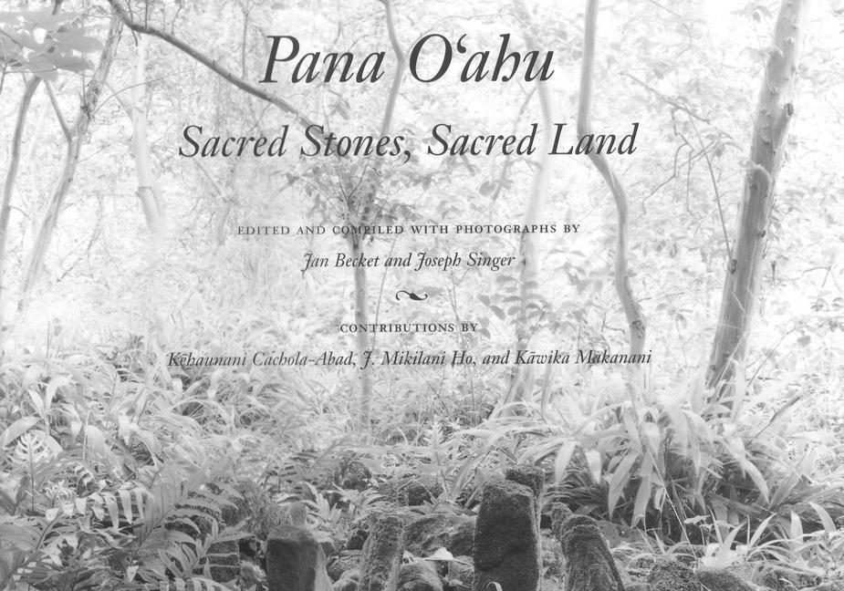 Pana O'Ahu: Sacred Stones, Sacred Land als Buch (gebunden)