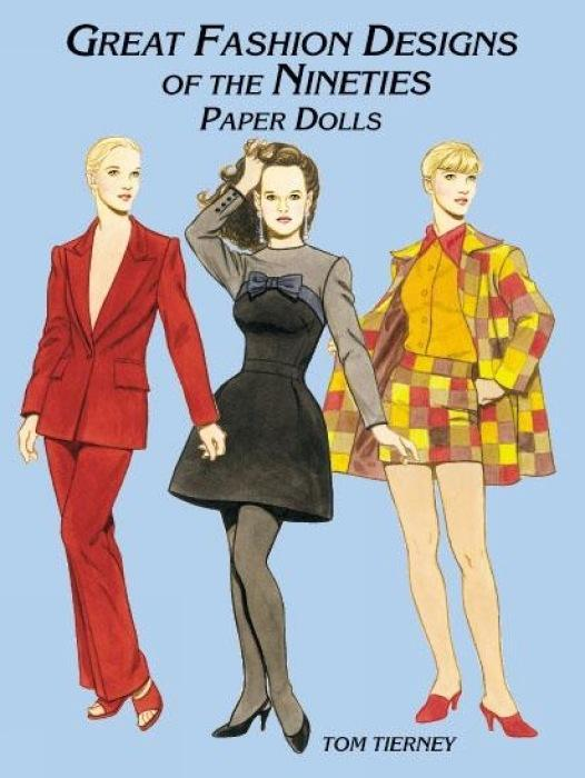 Great Fashion Designs of the Nineties Paper Dolls als Taschenbuch