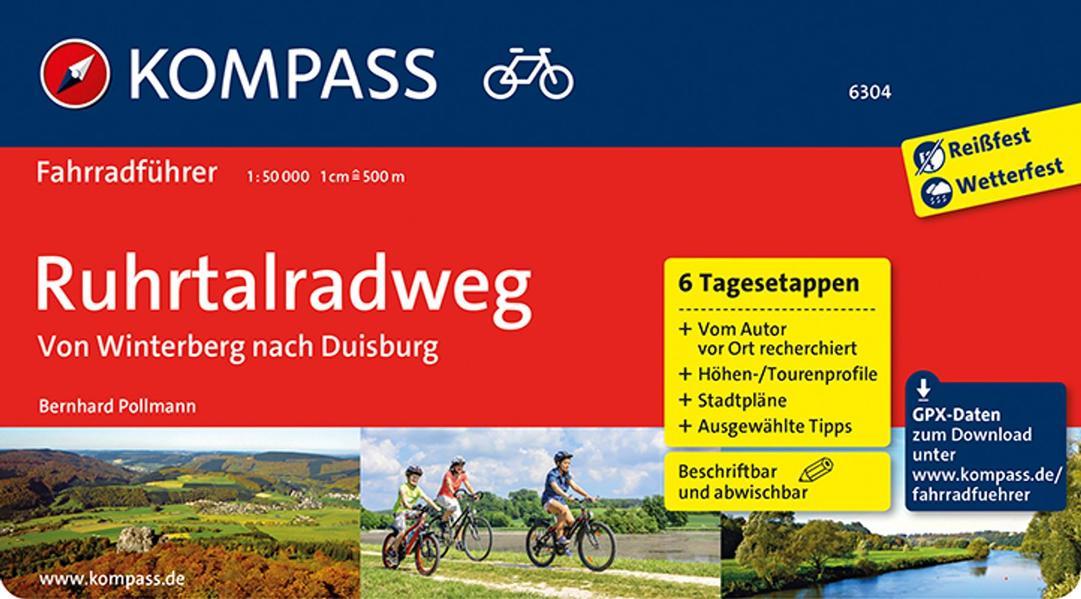 KOMPASS Fahrradführer Ruhrtalradweg als Buch (kartoniert)