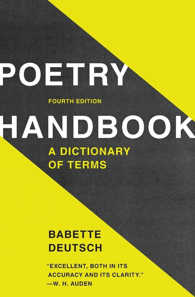Poetry Handbook: A Dictionary of Terms als Taschenbuch