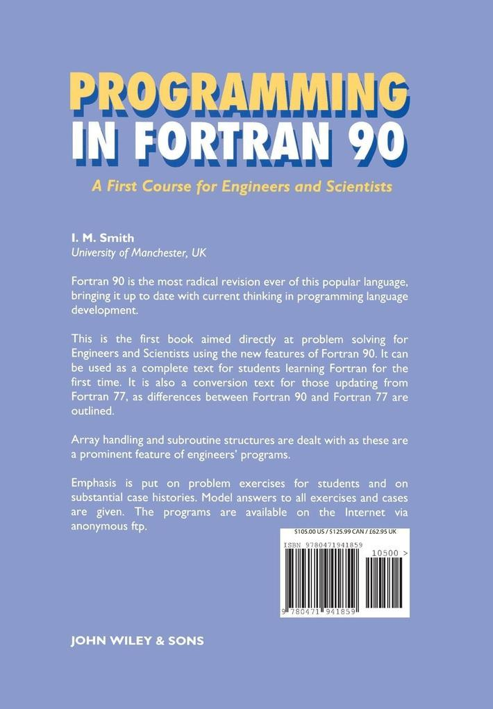 Programming in Fortran 90 als Buch (kartoniert)