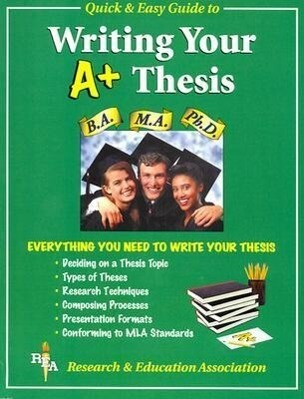 Rea's Quick and Easy Guide to Writing a Winning Thesis als Taschenbuch
