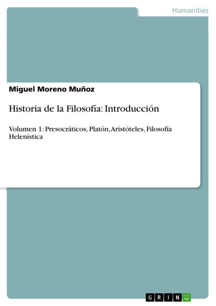 Historia de la Filosofía: Introducción als eBook epub