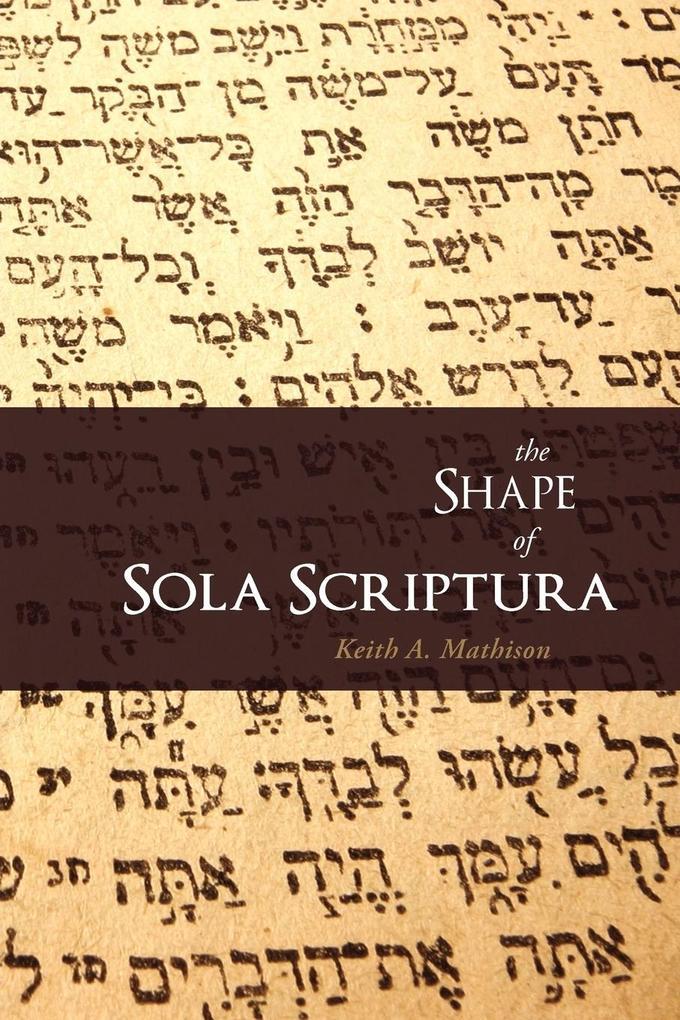 The Shape of Sola Scriptura als Buch (kartoniert)