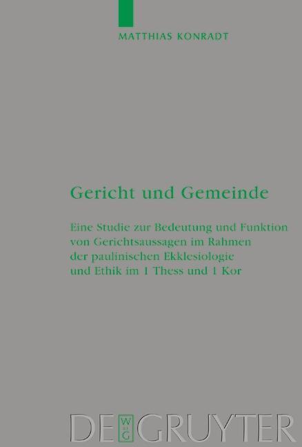 Gericht und Gemeinde als eBook pdf