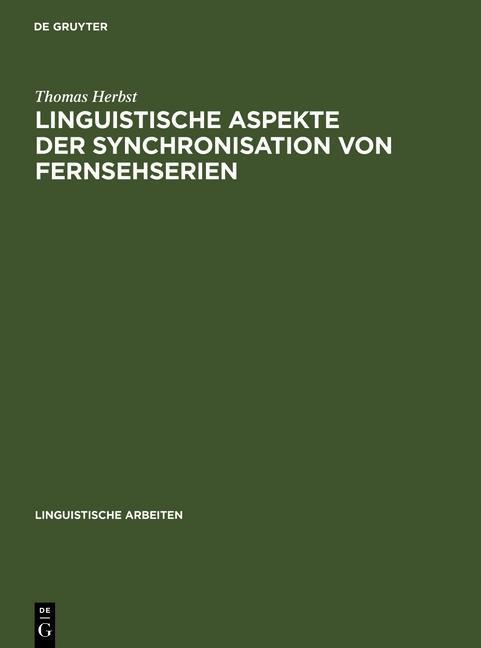 Linguistische Aspekte der Synchronisation von Fernsehserien als eBook pdf