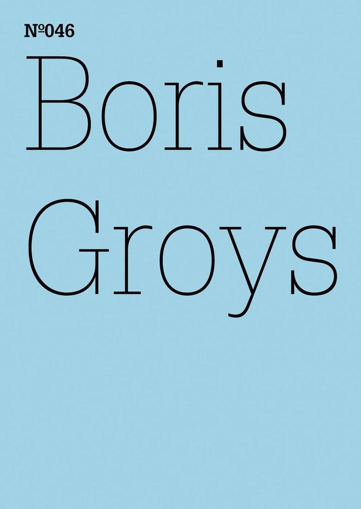 Boris Groys als eBook epub