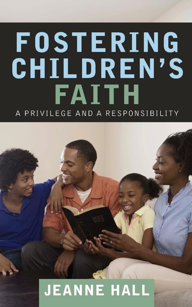 Fostering Children's Faith als Taschenbuch