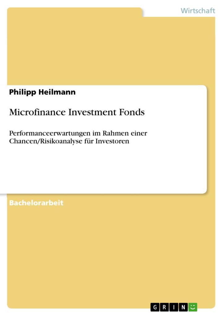 Microfinance Investment Fonds als eBook pdf